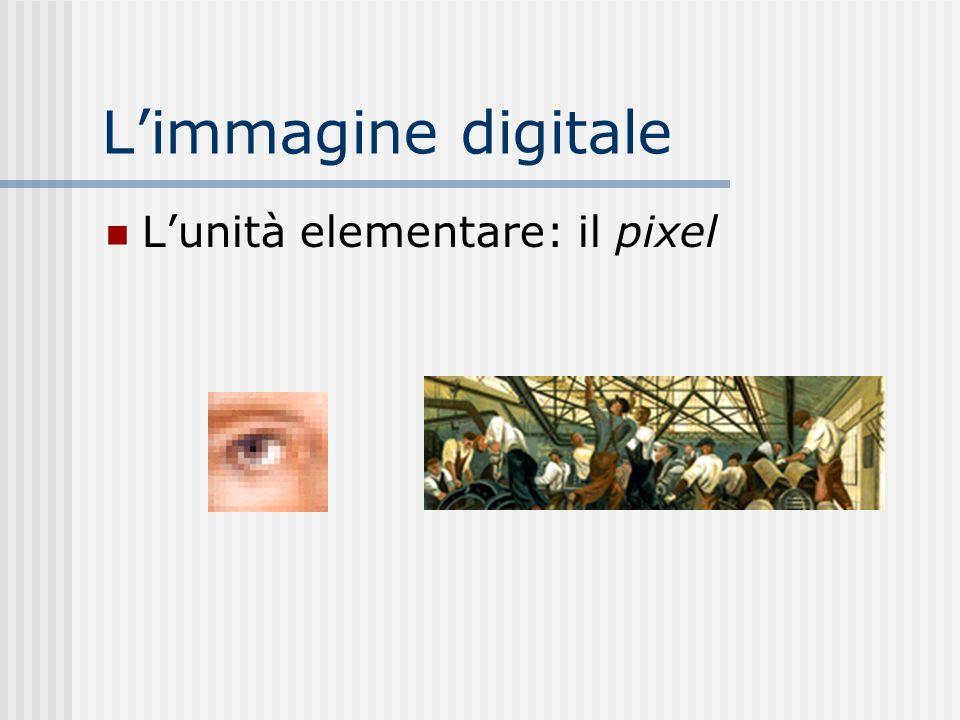L'immagine digitale L'unità elementare: il pixel