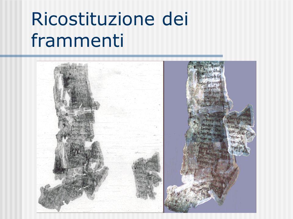 Ricostituzione dei frammenti