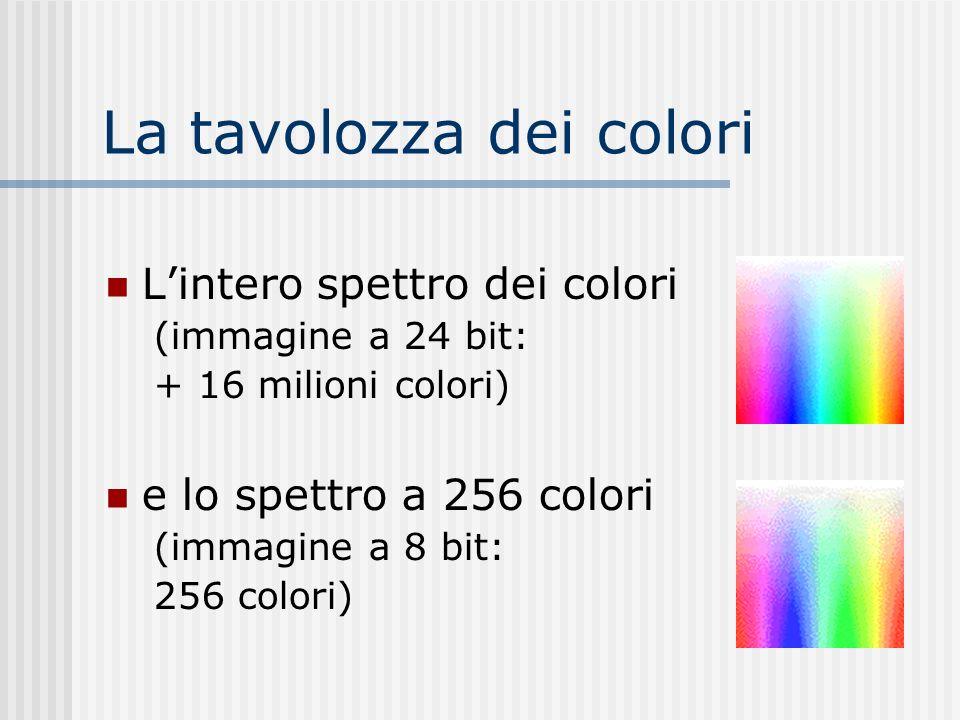 La tavolozza dei colori