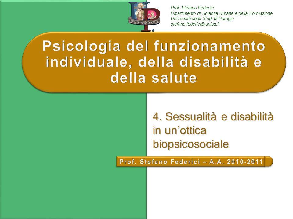 4. Sessualità e disabilità in un'ottica biopsicosociale