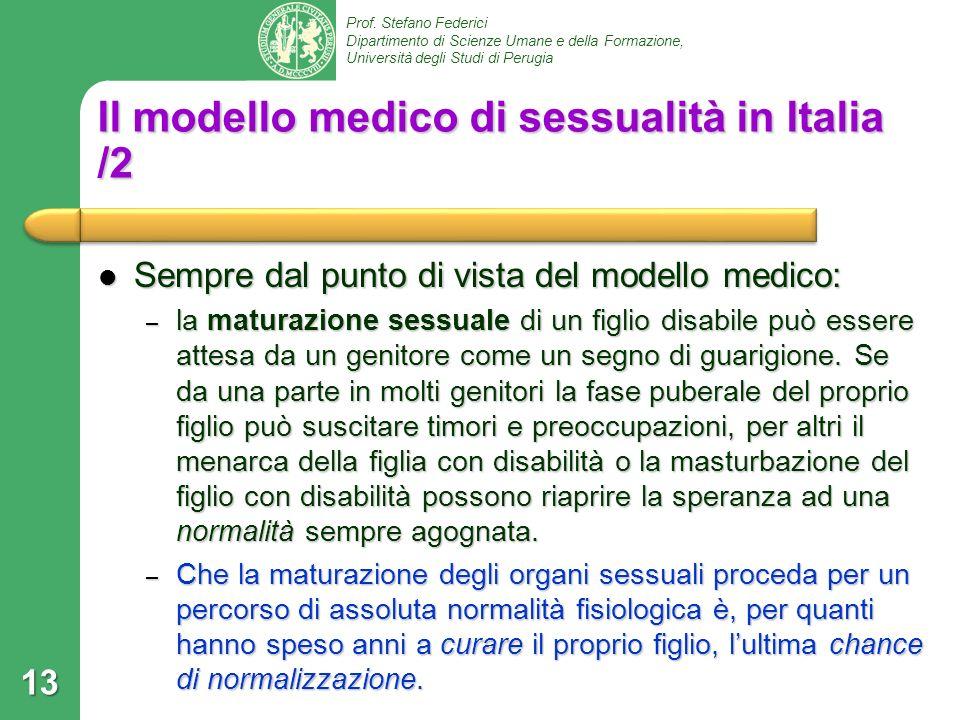 Il modello medico di sessualità in Italia /2