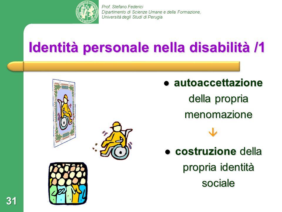 Identità personale nella disabilità /1