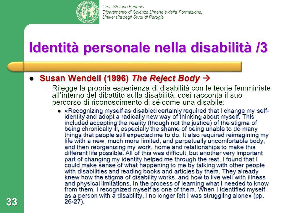 Identità personale nella disabilità /3