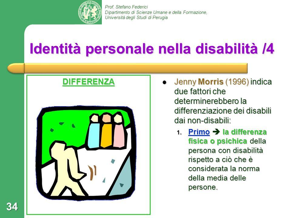 Identità personale nella disabilità /4