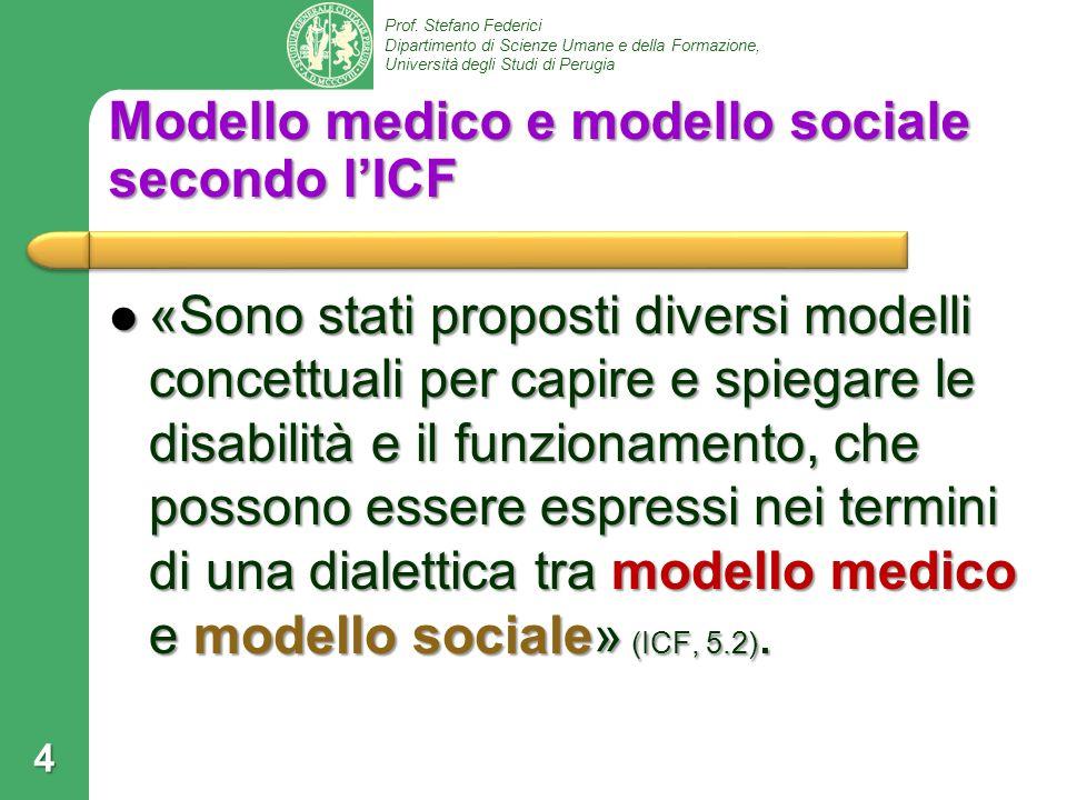 Modello medico e modello sociale secondo l'ICF