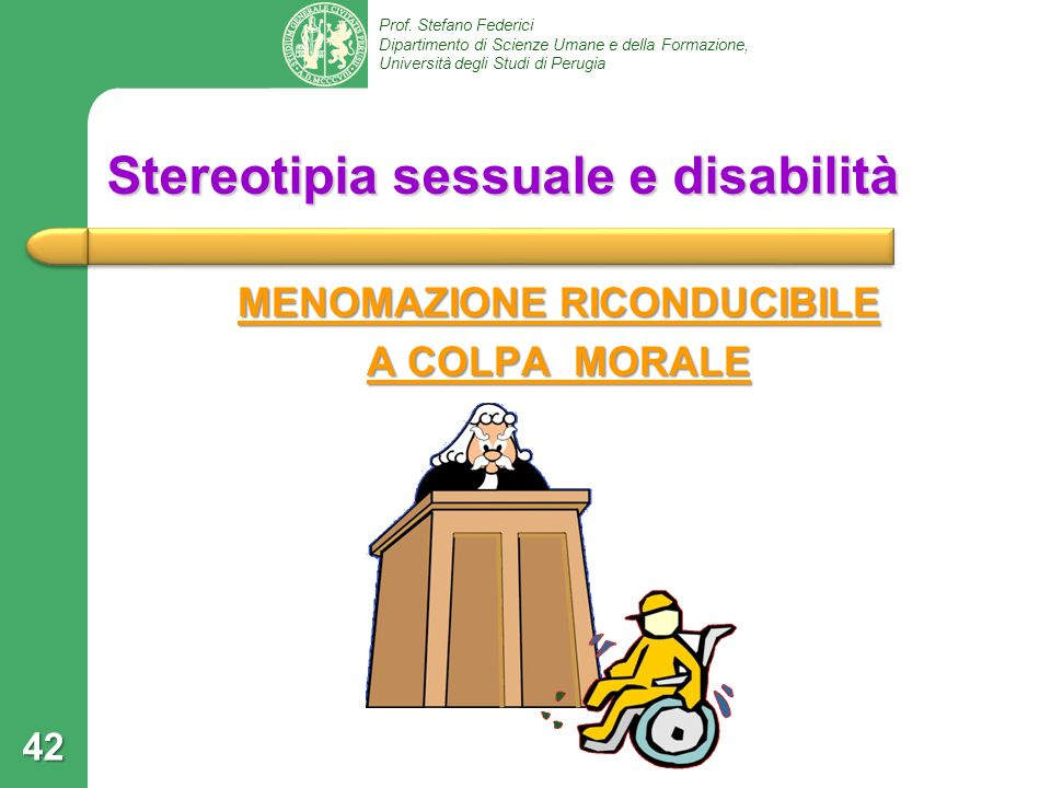 Stereotipia sessuale e disabilità