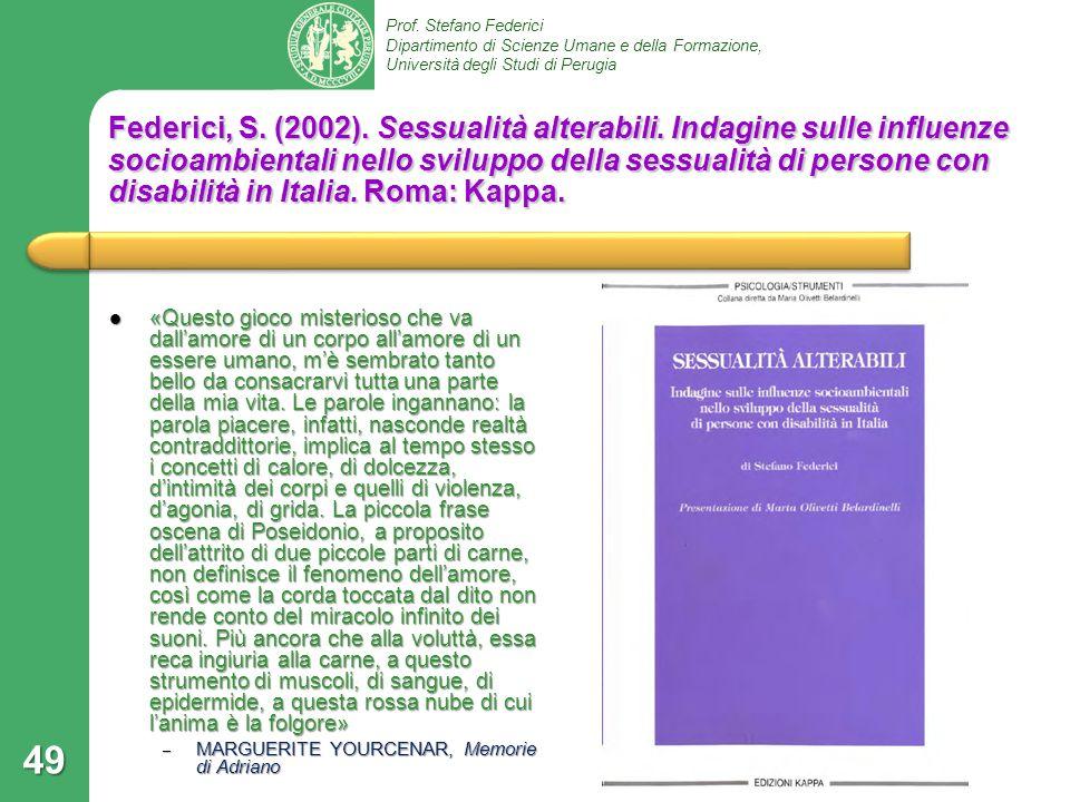 Federici, S. (2002). Sessualità alterabili