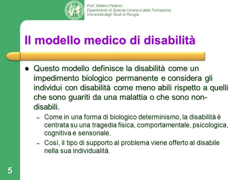 Il modello medico di disabilità