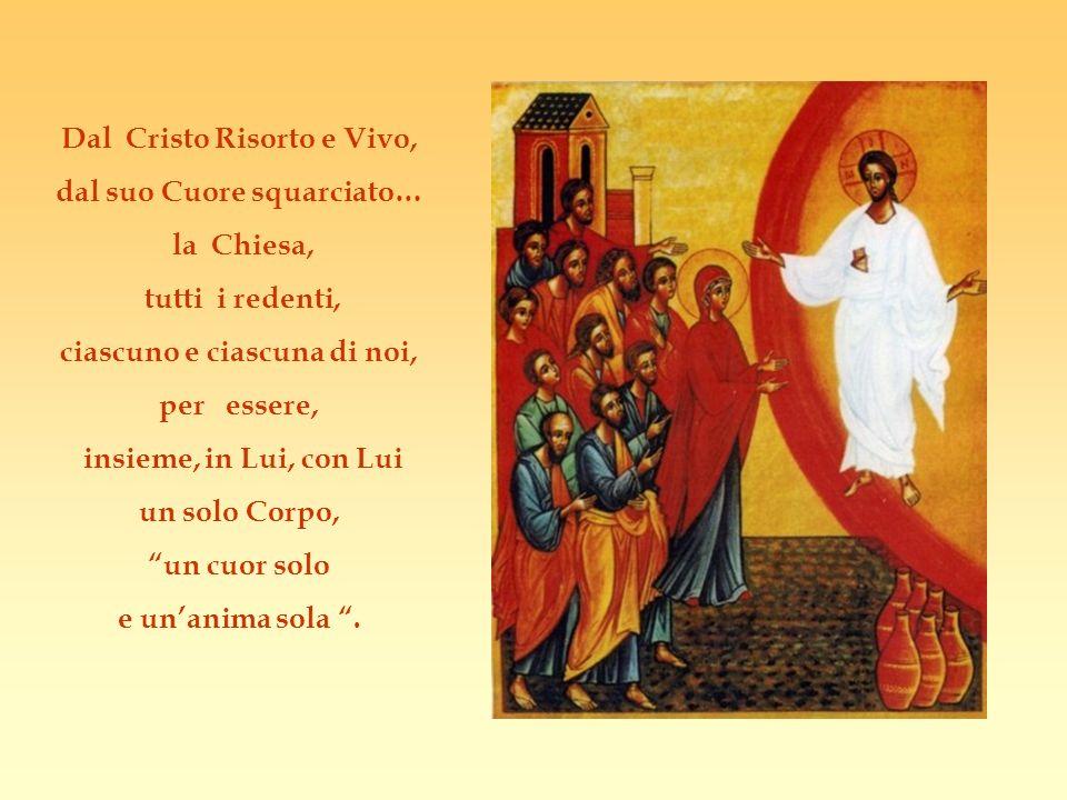 Dal Cristo Risorto e Vivo, dal suo Cuore squarciato… la Chiesa,