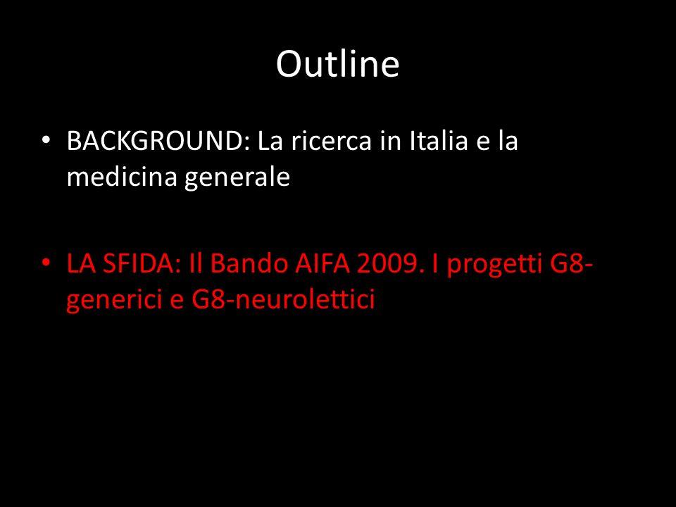Outline BACKGROUND: La ricerca in Italia e la medicina generale