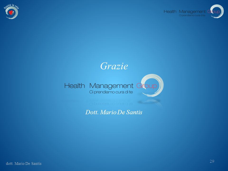 Grazie Dott. Mario De Santis