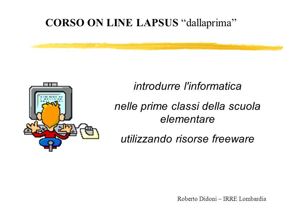 CORSO ON LINE LAPSUS dallaprima