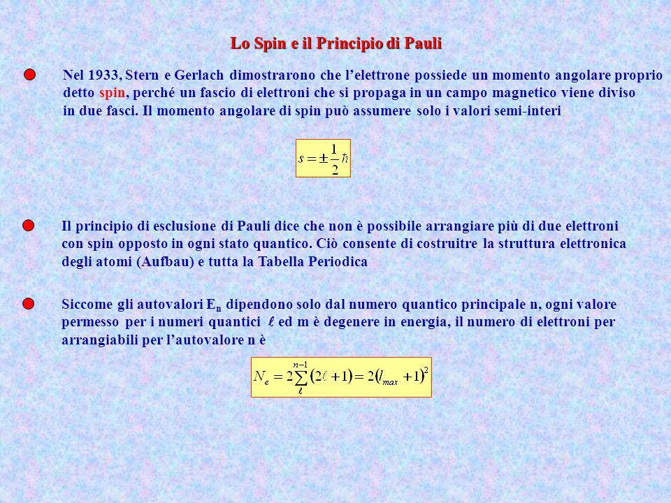 Lo Spin e il Principio di Pauli