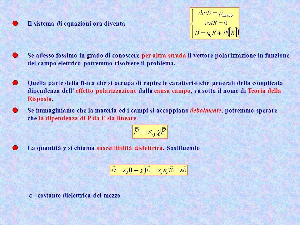 Il sistema di equazioni ora diventa