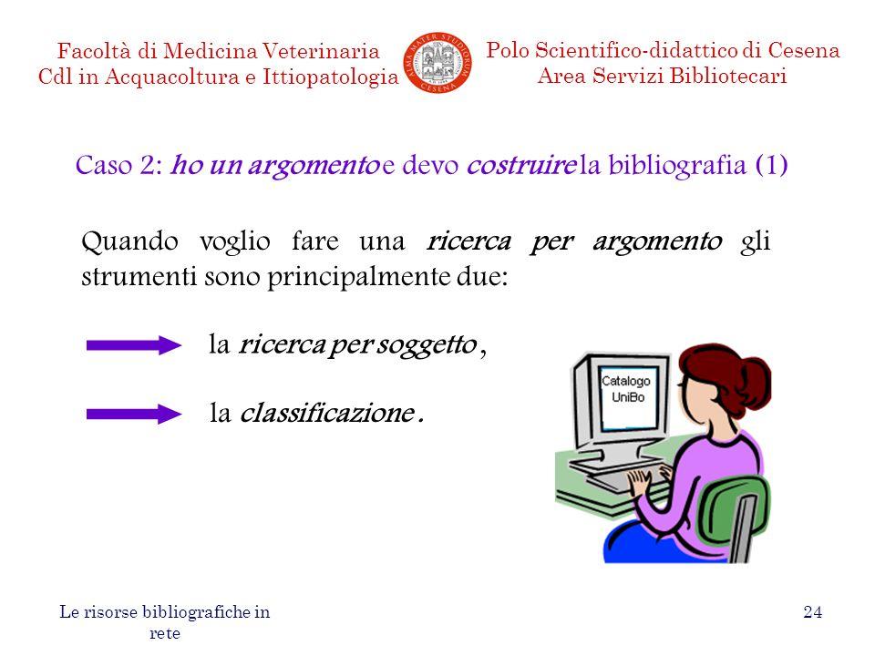 Caso 2: ho un argomento e devo costruire la bibliografia (1)