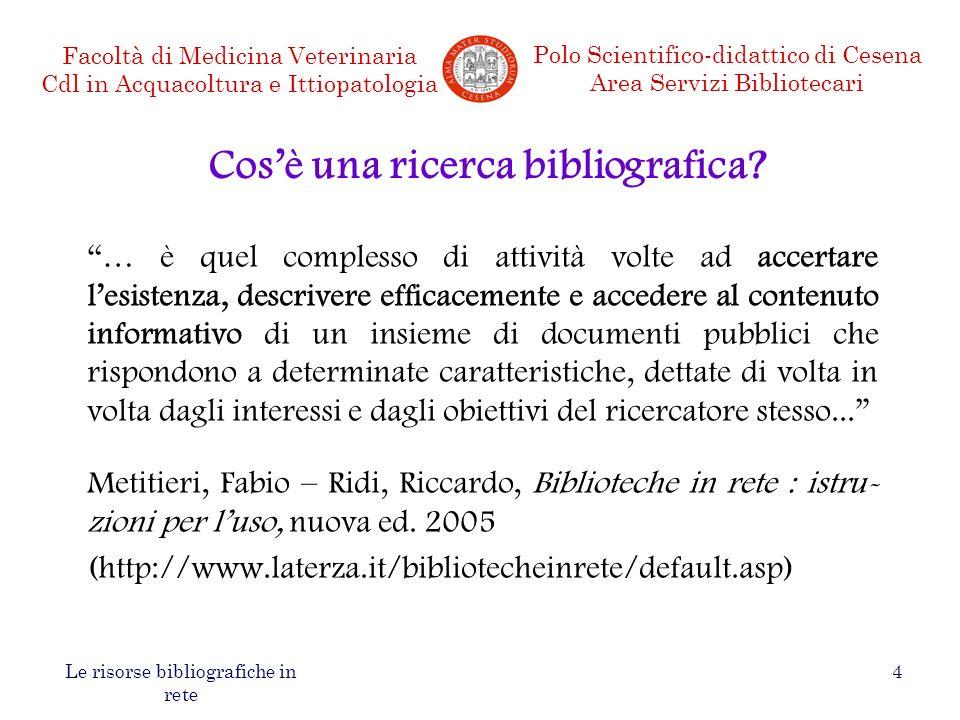 Cos'è una ricerca bibliografica