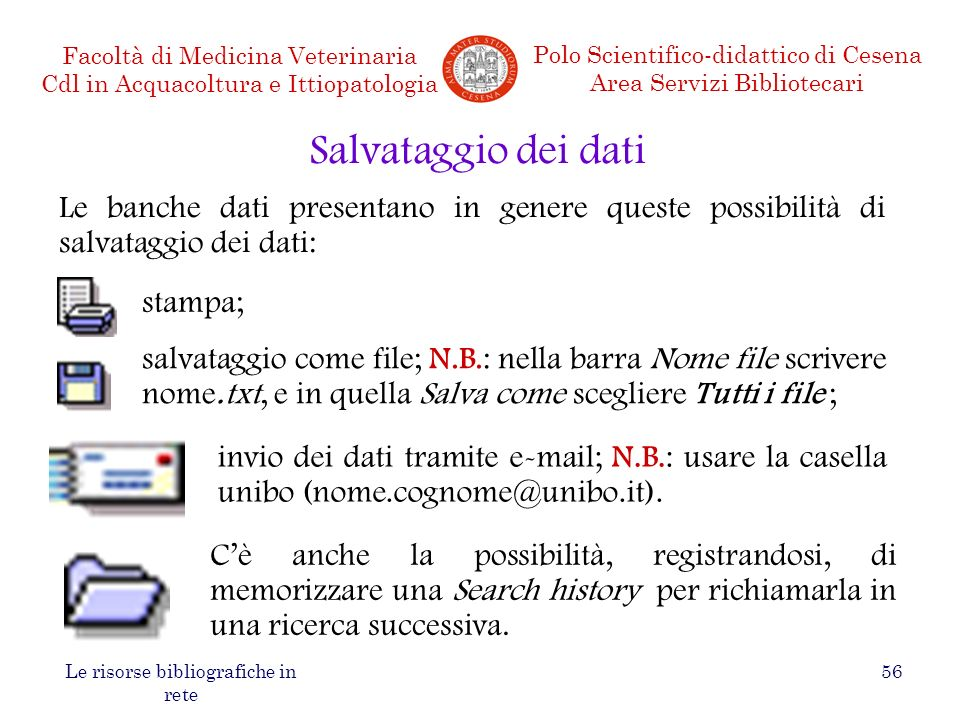 Le risorse bibliografiche in rete