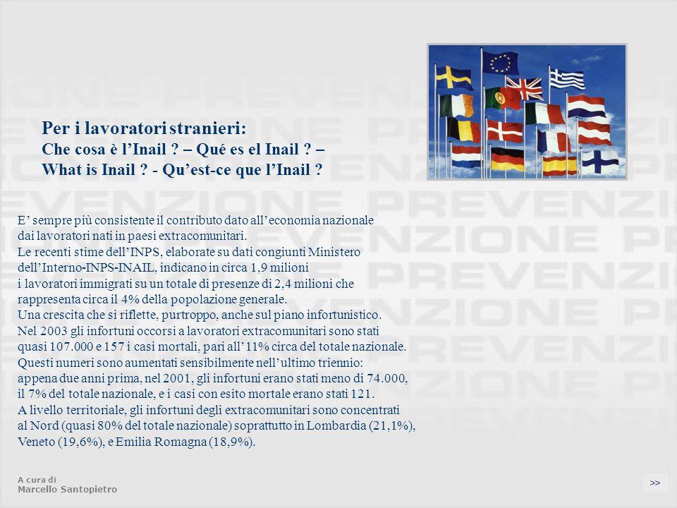 Per i lavoratori stranieri: Che cosa è l'Inail. – Qué es el Inail