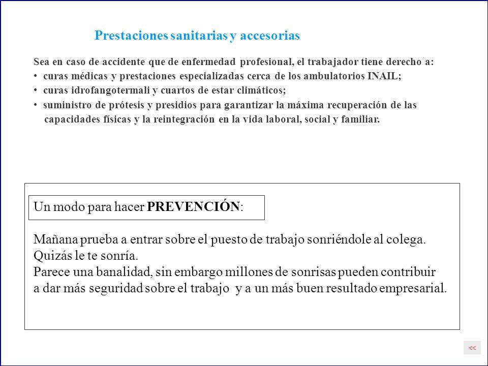 Prestaciones sanitarias y accesorias