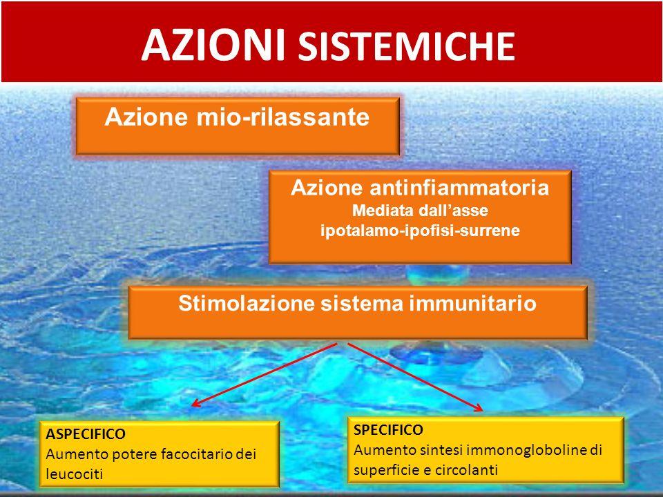 AZIONI SISTEMICHE Azione mio-rilassante Azione antinfiammatoria