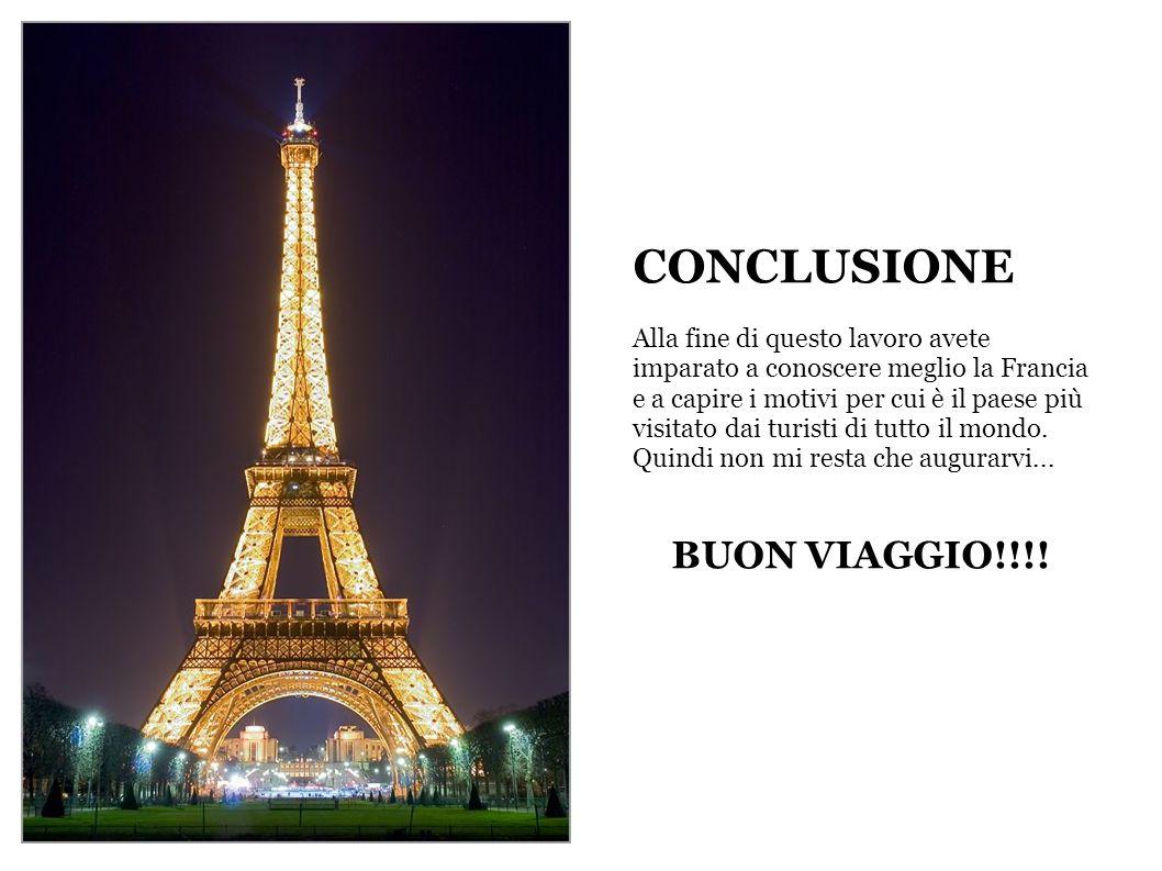 CONCLUSIONE BUON VIAGGIO!!!!