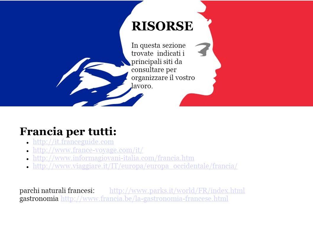 RISORSE Francia per tutti: