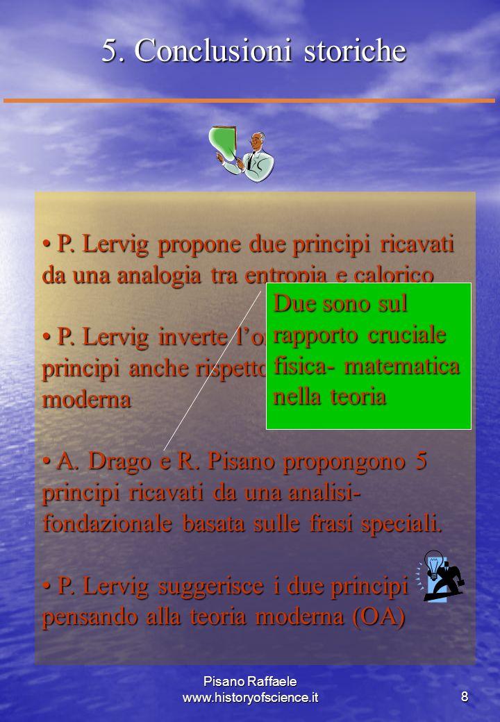Pisano Raffaele www.historyofscience.it