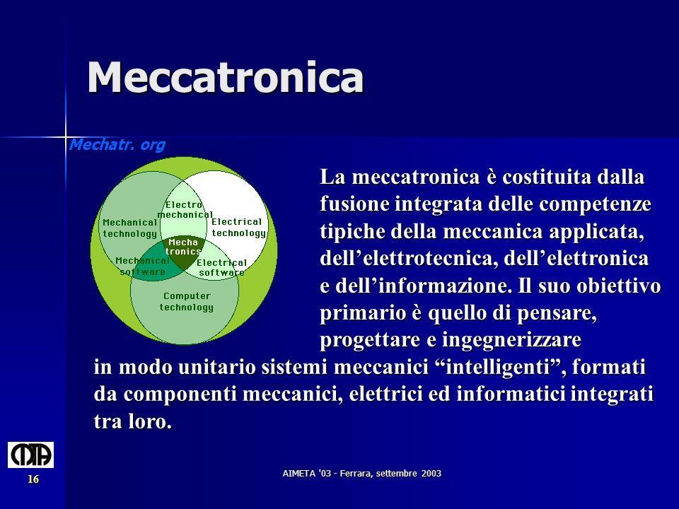 AIMETA 03 - Ferrara, settembre 2003