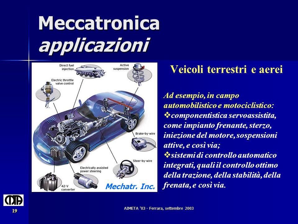 Meccatronica applicazioni