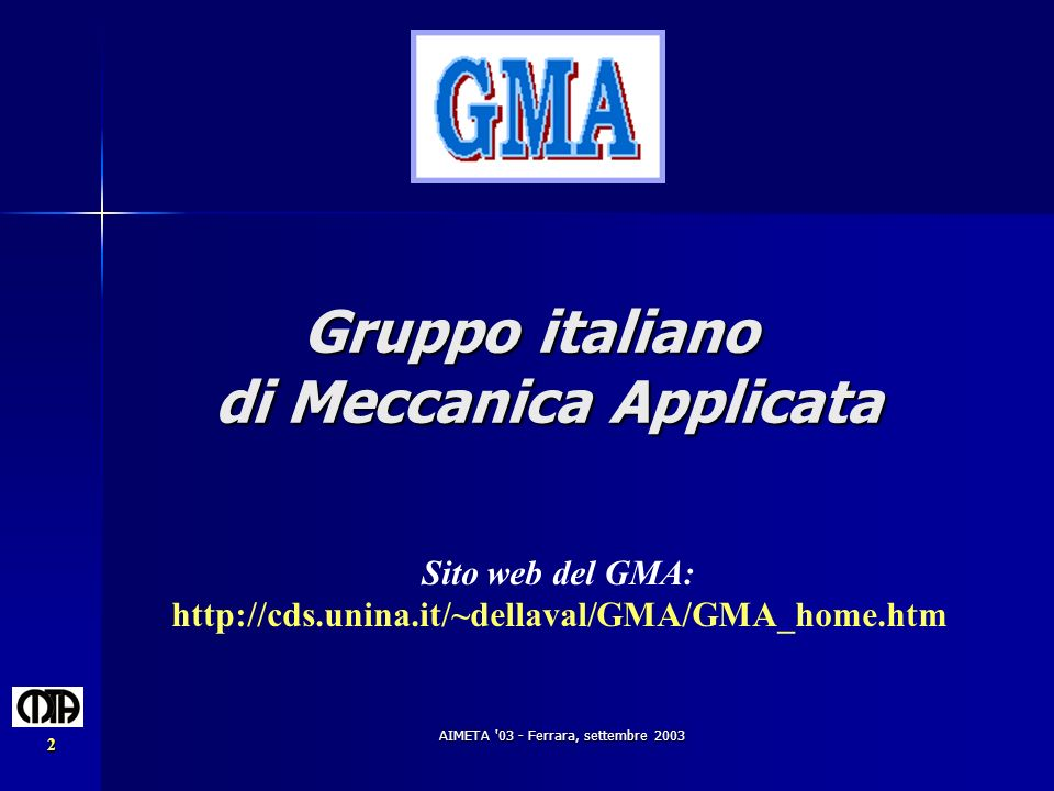 Gruppo italiano di Meccanica Applicata