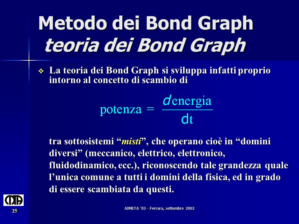 Metodo dei Bond Graph teoria dei Bond Graph