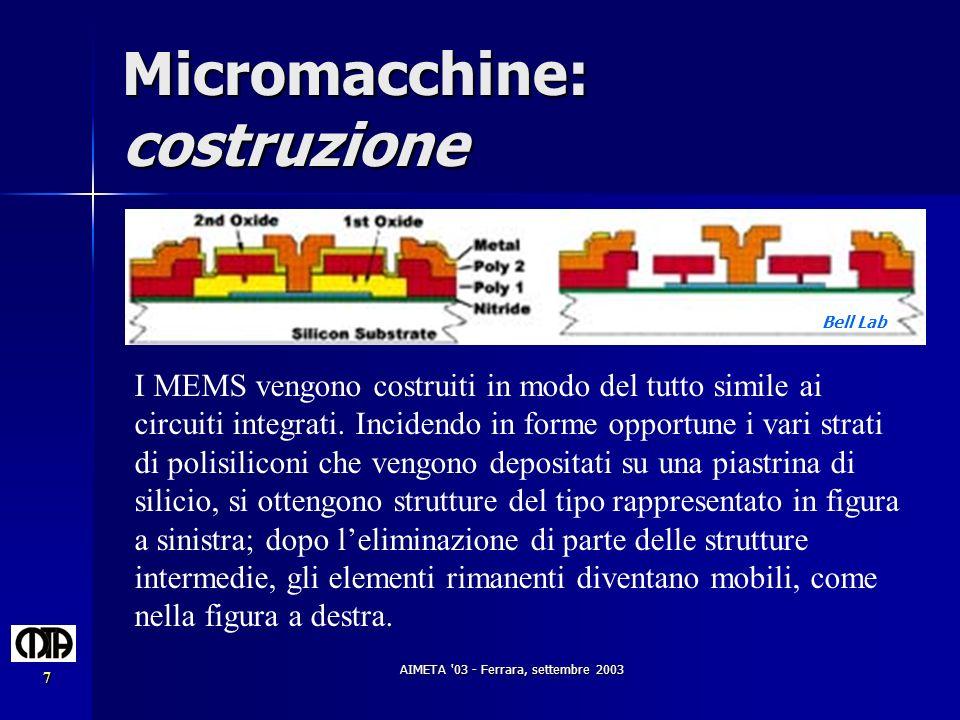 Micromacchine: costruzione