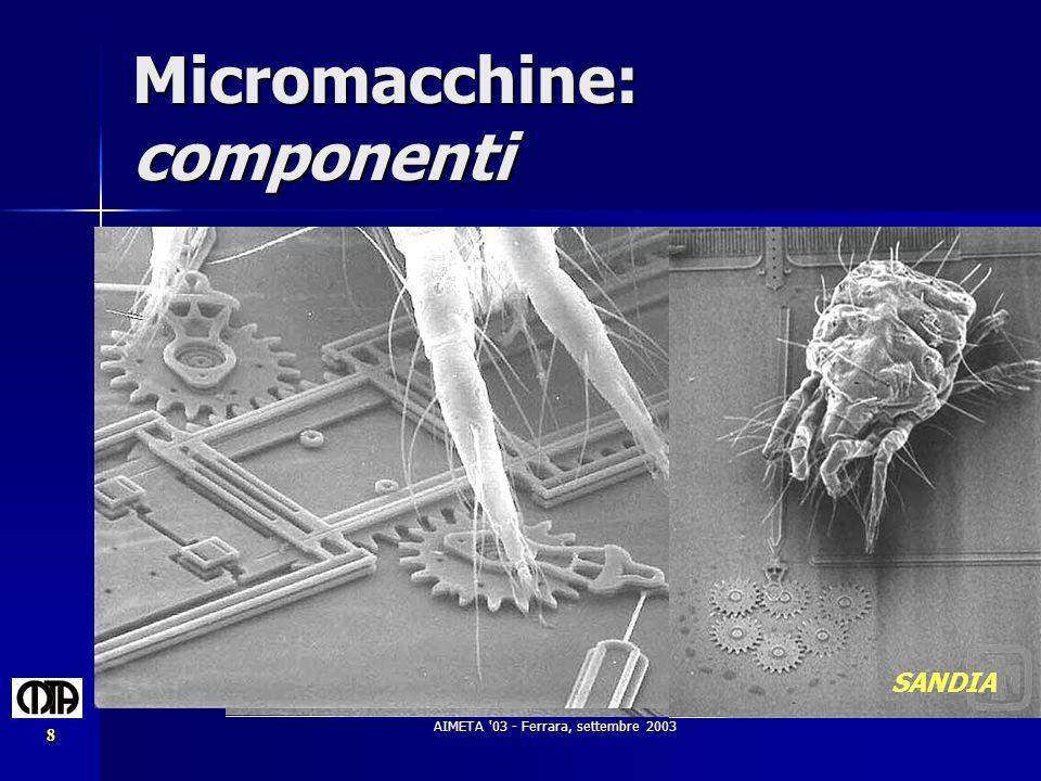 Micromacchine: componenti
