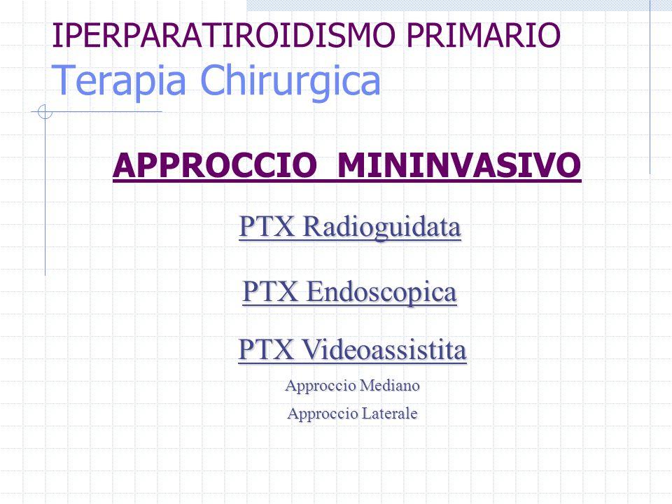 IPERPARATIROIDISMO PRIMARIO Terapia Chirurgica