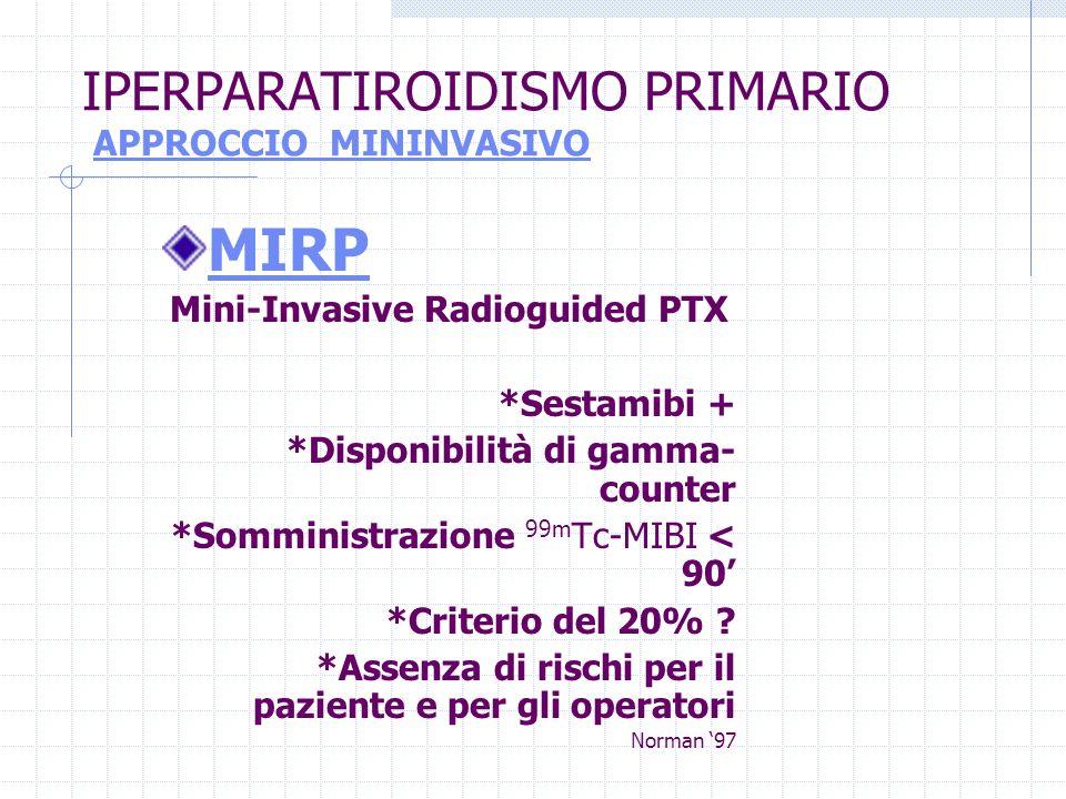 IPERPARATIROIDISMO PRIMARIO APPROCCIO MININVASIVO