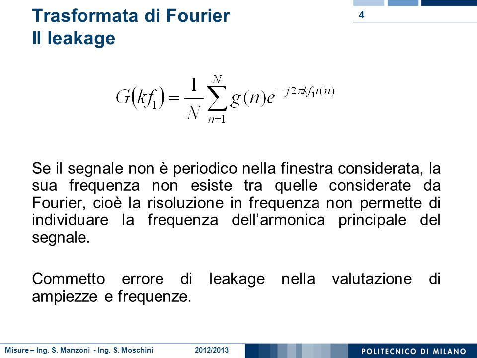 Trasformata di Fourier Il leakage