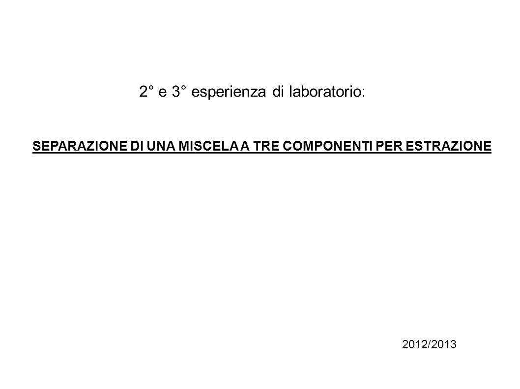 2° e 3° esperienza di laboratorio: