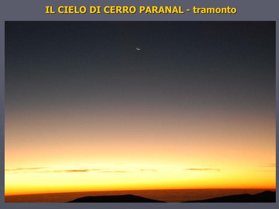 IL CIELO DI CERRO PARANAL - tramonto