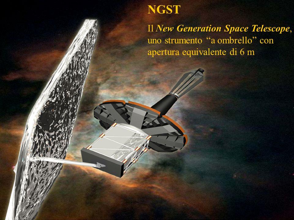NGST Il New Generation Space Telescope, uno strumento a ombrello con apertura equivalente di 6 m