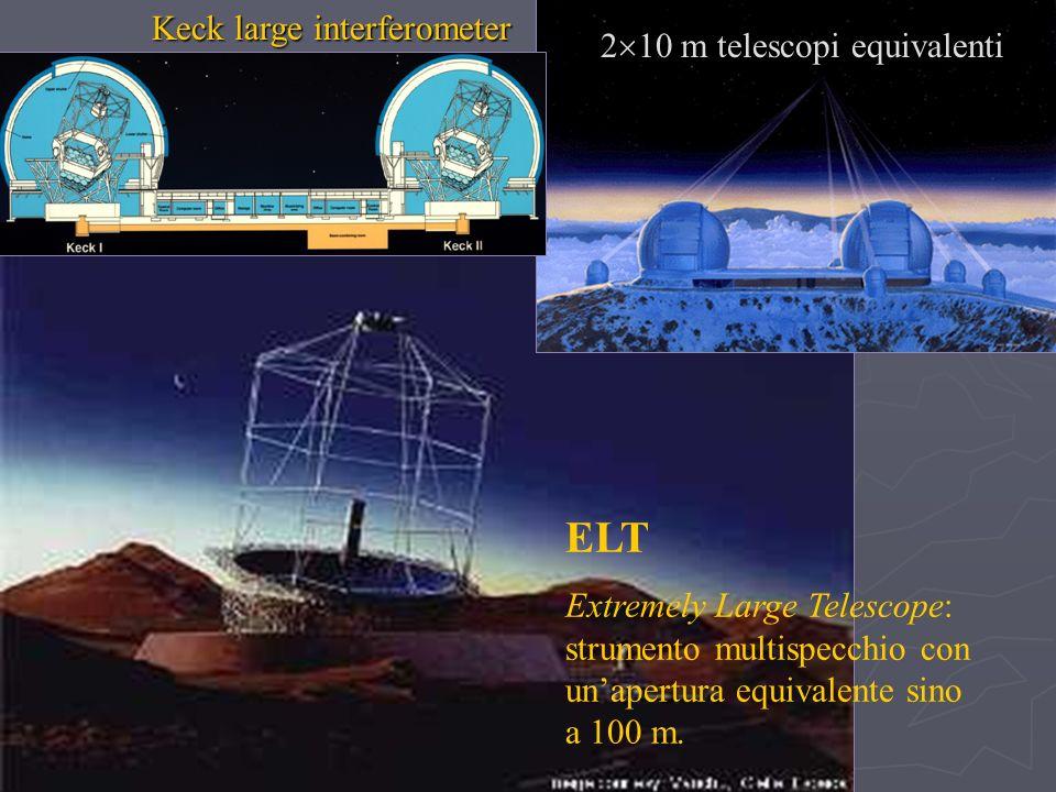 ELT Keck large interferometer 210 m telescopi equivalenti