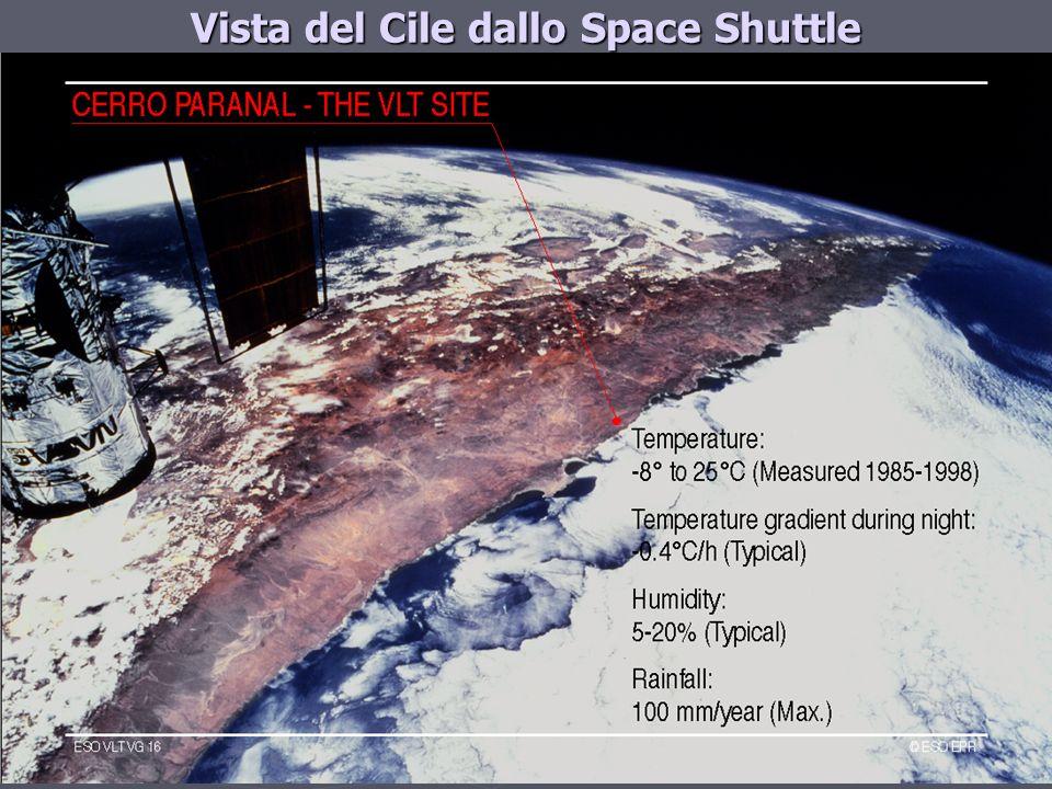Vista del Cile dallo Space Shuttle