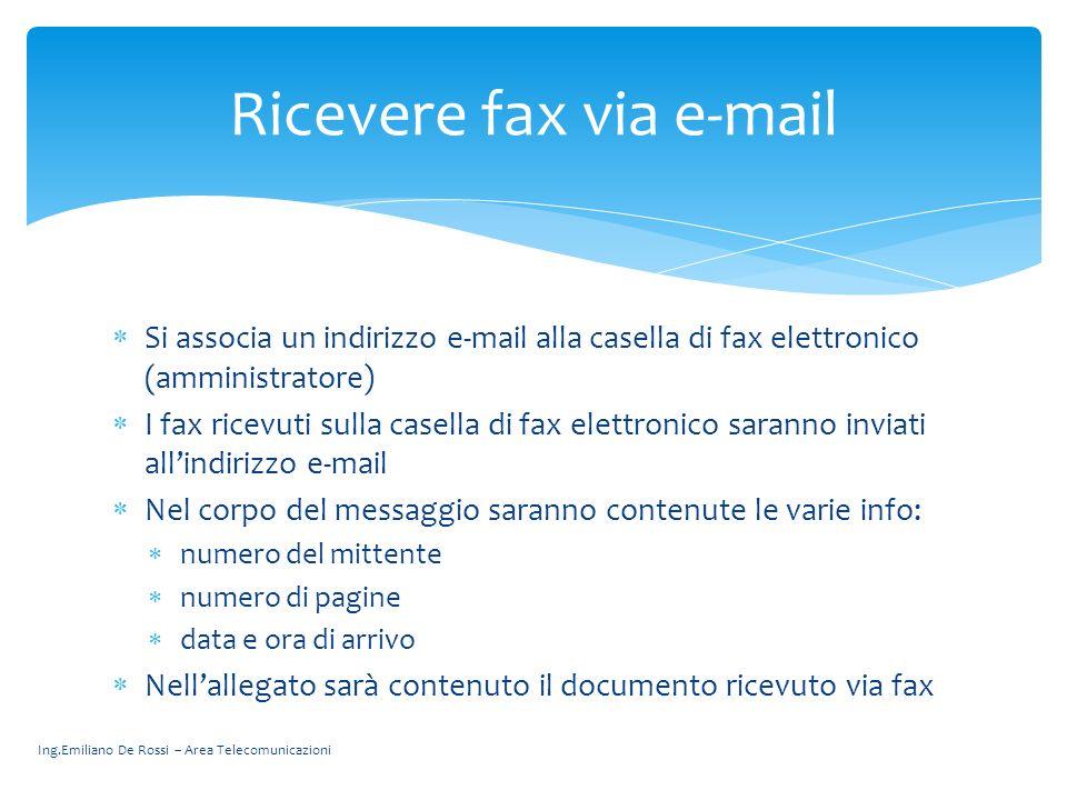 Ricevere fax via e-mail