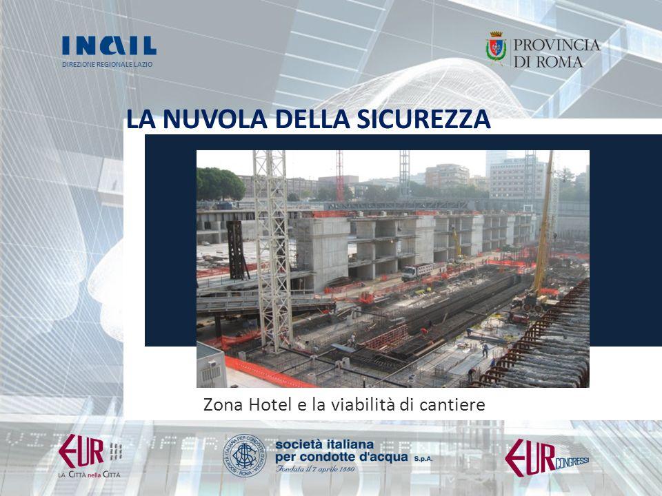 Zona Hotel e la viabilità di cantiere