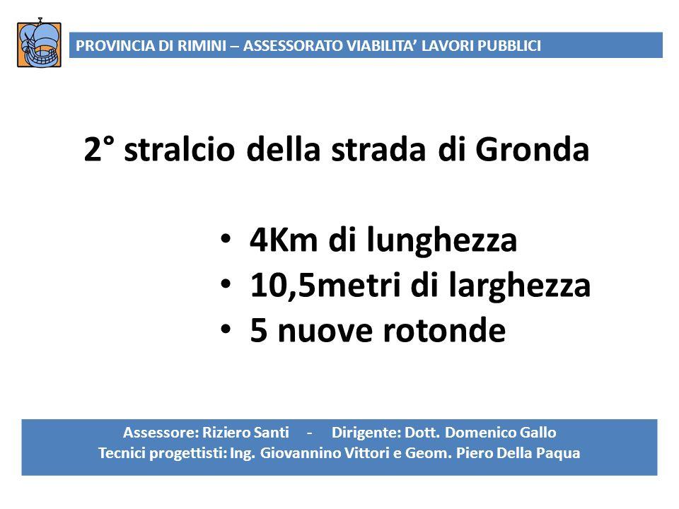 2° stralcio della strada di Gronda 4Km di lunghezza