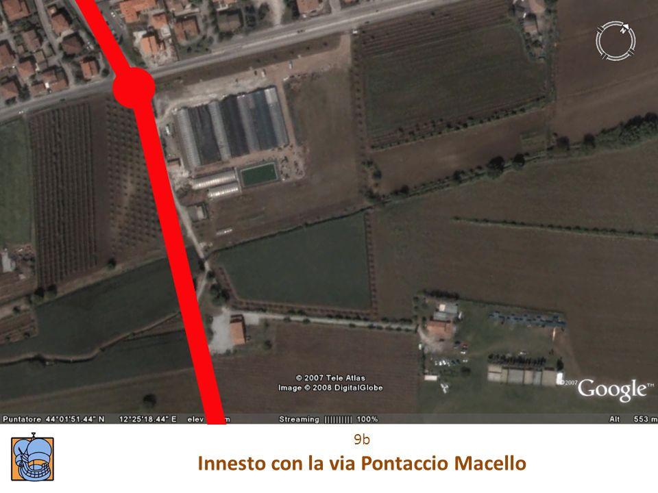 Innesto con la via Pontaccio Macello