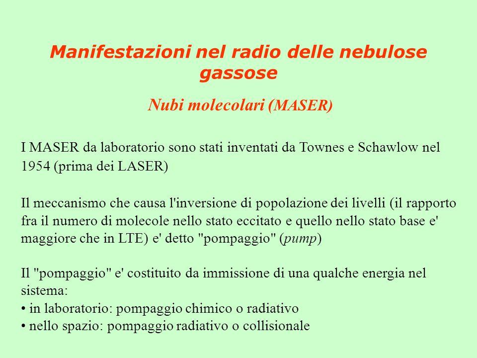 Manifestazioni nel radio delle nebulose gassose