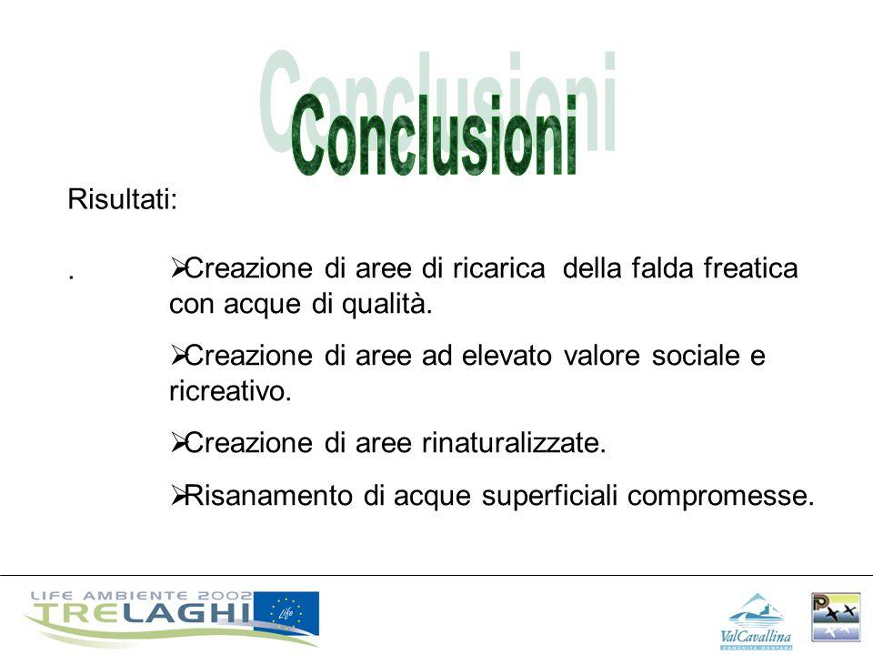 Conclusioni Risultati: .