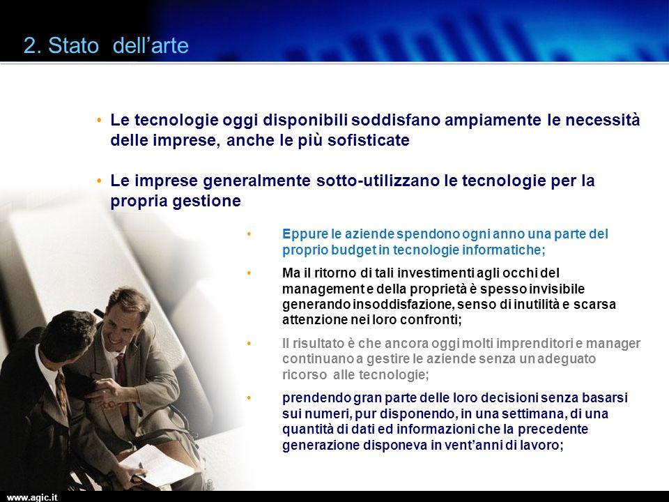 2. Stato dell'arte Le tecnologie oggi disponibili soddisfano ampiamente le necessità delle imprese, anche le più sofisticate.