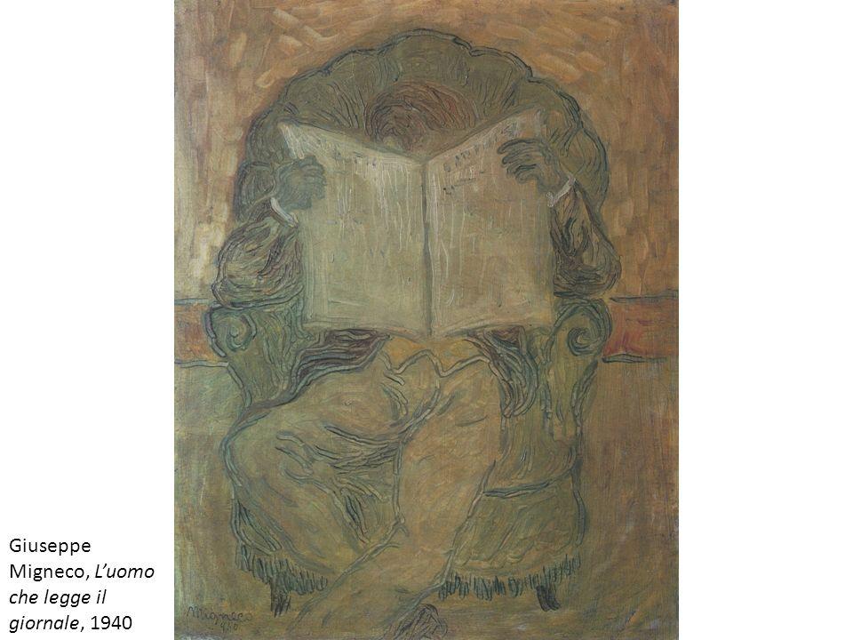 Giuseppe Migneco, L'uomo che legge il giornale, 1940