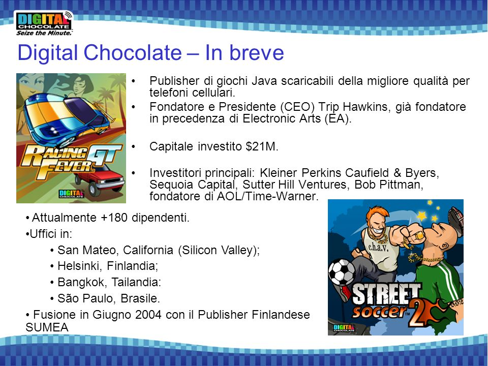 Digital Chocolate – In breve